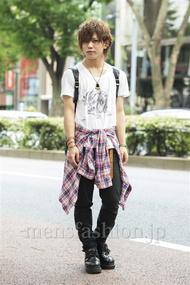 ファッションコーディネート原宿・表参道 2014年07月 夏川登志郎さん
