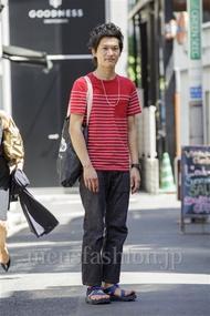 ファッションコーディネート原宿・表参道 2014年08月 ワタベショウマさん