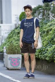 ファッションコーディネート原宿・表参道 2014年08月 岡崎 翼さん