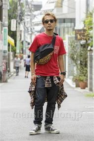ファッションコーディネート原宿・表参道 2014年08月 川原一高さん