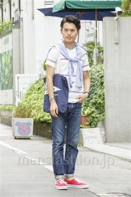 ファッションコーディネート原宿・表参道 2014年08月 青山清志さん