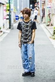 ファッションコーディネート原宿・表参道 2014年08月 夏川登志郎さん
