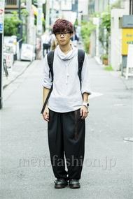 ファッションコーディネート原宿・表参道 2014年09月 五味渕佳佑さん