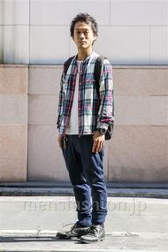 ファッションコーディネート原宿・表参道 2014年10月 川原一高さん