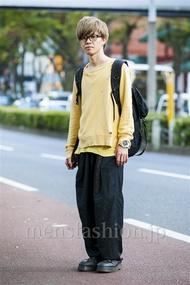ファッションコーディネート原宿・表参道 2014年10月 五味渕佳祐さん
