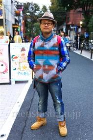 ファッションコーディネート 2014年11月 平紙慎也さん