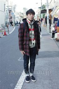 ファッションコーディネート都内 2014年12月 ハルキさん