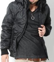 【メンズファッションのイチオシ】ダイヤキルトマットデザイン中綿ジャケット
