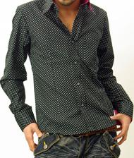 【あのビームスのシャツをさらにスタイリッシュに!!】ドットデザインカラー配色オリジナルシャツ  次の商品