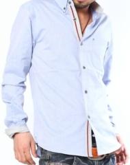 【春!!シャツの爽やかさを装備♪】ライン入りストライプデザイン使いシャツ