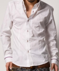 【ディテールにこだわりを持つ男=デキル男】カラーパイピングデザインシャツ