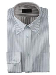 ボタンダウンワイシャツ ブルーストライプ