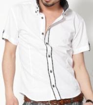 【読モの女の子がデザイン】2枚襟シルエットチェック半袖シャツ