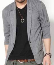 【★イメチェンした自分をお披露目★】ジャケットデザイン7分袖カーデ