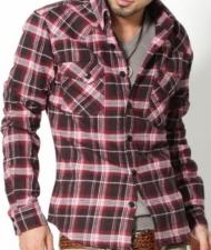 【人気ナンバーワン1のチェックシャツ】厚手生地デザインチェックシャツ