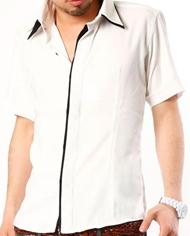 【キレイメ好きの女の子が釘付け!】2枚襟キレイめ半袖シャツ