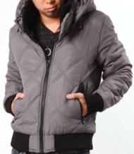 【首元がポカポカで暖か~い♪】フード脱着中綿ジャケット
