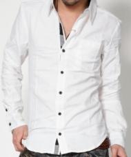 【チラ魅せポイント満載の春シャツ!!】チェックデザイン裏立てシャツ