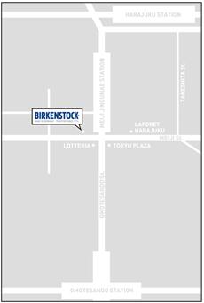 ビルケンシュトック MAP