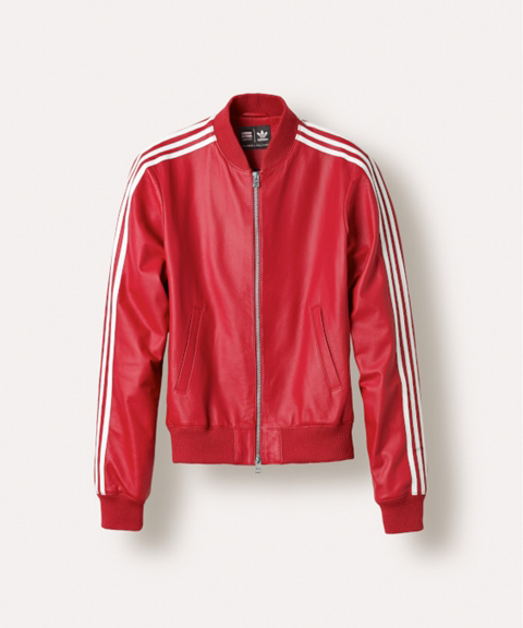 adidas Originals Leather track jacket Red