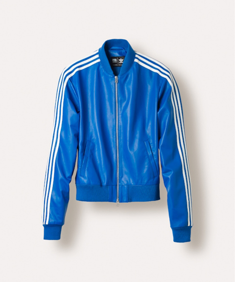 adidas Originals Leather track jacket Blue