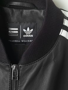 adidas Originals  Leather track jacket Front