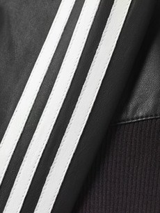 adidas Originals  Leather track jacket 袖