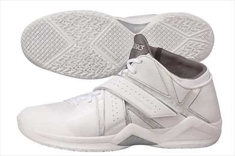 アシックスバスケットシューズ NAKED EG02 ホワイト×シルバー