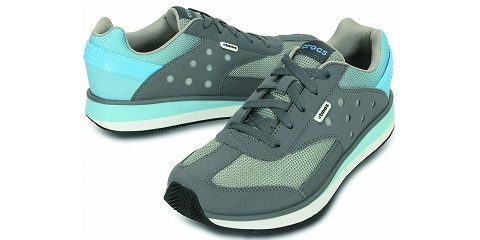 crocs☓atoms Charcoal-Light_Blue