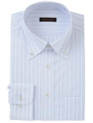 形態安定ボタンダウンシャツ(ブルー)